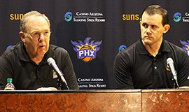 At a Friday press conference, Lon Babby and Ryan McDonough discussed the multiple trades made by the Suns during the NBA's trade deadline Thursday. Babby, said he was convinced that the Suns were in the best place they have been in since he had been with the team.