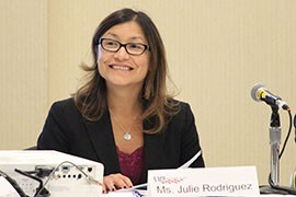 Julie Rodriguez, White House deputy director of public engagement, told a group of county officials that immigration reform in the president's executive orders will create