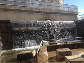 Water from the Arizona Canal flows over an attraction in Phoenix. A poll by two Arizona State University institutions found that along with education water is the highest priority among Arizonans.