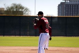 D-Backs starting pitcher Daniel Hudson fully participates in Spring Training drills for the first time in three years.