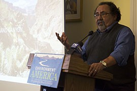 Rep. Raul Grijalva, D-Tucson, said efforts to weaken the Antiquities Act are being driven by ''special interest groups with an agenda cloaked in economic recovery and jobs.''
