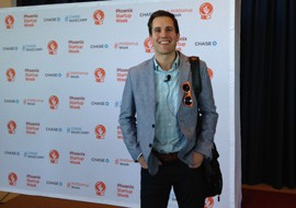 Ryan Bartos, managing director of Savills Studley, a commercial real estate firm, discussed how millennials impact office-space design and decision making for businesses at a Phoenix Startup Week event.