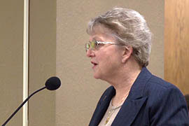 Superintendent of Public Instruction Diane Douglas tells the Senate Education Committee she supports a bill that would give her no oversight of State Board of Education staff members.