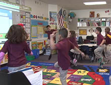 Students in Dawn Robertson's first-grade class at Arizona State University Preparatory Academy take morning brain breaks each day. See it in action and hear why Robertsons says it helps.