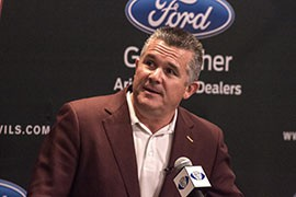 """Todd Graham calls Athletic Director Ray Anderson a """"huge asset"""" to recruiting."""