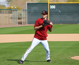 Still expected to be out until June, D-Backs pitcher Patrick Corbin hopes to get some work in during Spring Training and further his recovery from Tommy John surgery.