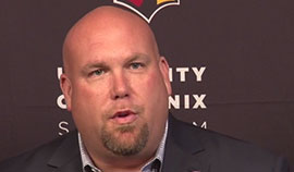 After receiving contract extensions through the 2018 NFL season, Arizona Cardinals general manager Steve Keim and head coach Bruce Arians reflected on the progress the pair has made so far and their expectations for what's ahead for the organization. Video by Kerry Crowley / Cronkite News