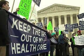 The federal subsidy for health insurance under Obamacare benefits millions of people in the U.S., and more than 155,000 in Arizona, who could be affected depending on how the Supreme Court rules. Cronkite News' <b>Tara Terregino</b> has more from the court.