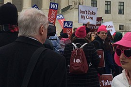 Supporters of Obamacare said that if the Supreme Court rules against federal subsidies that help pay for their health insurance it could have a