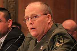 Cochise County Sheriff Mark Dannels told a Senate committee that many of his constituents along the border are afraid to leave their homes because of border security problems.