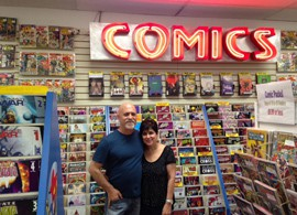 Alan and Marsha Giroux opened All About Books and Comics in 1981. They completed a successful Kickstarter campaign last week to cover the cost of relocating.
