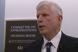 U.S. Forest Service Chief Tom Tidwell said doing away with ''fire borrowing'' doesn't cost more but is more efficient, more effective and a better business approach' to fighting wildfires.