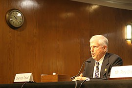 In testimony to a Senate panel, Forest Service Chief Tom Tidwell said the current practice of fire borrowing affects his agency's ability to deliver other services, in addition to fighting wildfires.