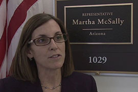 Rep. Martha McSally, R-Tucson, said her bill to criminalize the actions of those who are lookouts for border traffickers grew out of meetings with police and residents on the border.