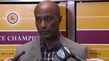 Arizona State Vice President for University Athletics and Athletic Director Ray Anderson addresses the media on March 24, 2015, following news men's basketball head coach Herb Sendek has been fired after nine seasons. The Sun Devils' season ended Sunday after an overtime loss to Richmond in the second round of the NIT.