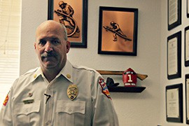 Paul Cimino, fire marshal for the city of Sierra Vista, says the 2011 Monument Fire, which destroyed dozens of structures, left the  community stronger and wiser by making people more conscious of the dangers.