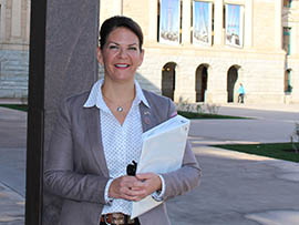 State Sen. Kelli Ward, R-Lake Havasu City, authored legislation that would allow parents of dyslexic third-graders to request exemptions from the state's Move On When Reading law.