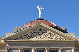 The copper dome atop the Arizona State Capitol is one sign of the metal's importance in Arizona history. A bill before the Legislature would make copper the official state metal.