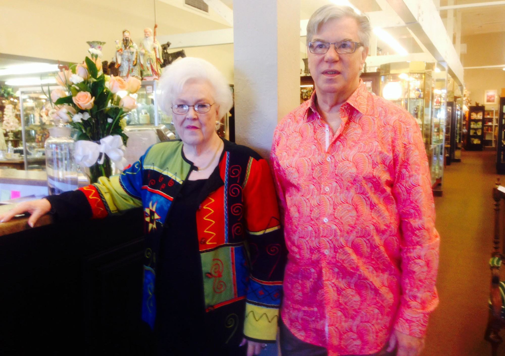 Antiques On Central's owners Sylvia Wells, Cliff Sharar and Doris Leis (not pictured) said they are happy with their new store on Missouri Avenue is easier to navigate.