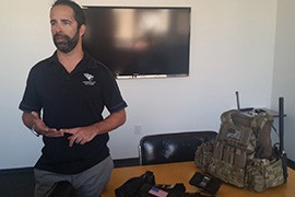 Chris Stalzer, princpal at Scottsdale-based Juggernaut Defense, helped develop physical components of FLASH and its military counterpart.