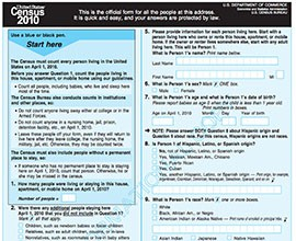 A form from the last Census in 2010. Officials say tracking down people who don't reply to the form is one of the most expensive parts of the decennial census.