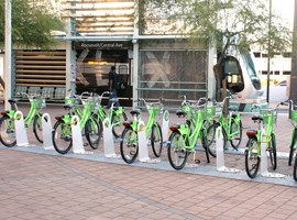 A study by the U.S. PIRG Education Fund and the Frontier Group ranks Phoenix in the middle of the pack among 70 cities when it comes to technology-enabled transportation options. It cited the Phoenix GRID bike share program as one such option.