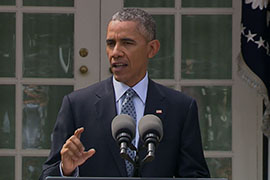 President Barack Obama called the deal with Iran, a