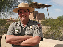 Dave Carney, chief of education and interpretation at Casa Grande Ruins National Monument, says despite a backlog in deferred maintenance the park has been able to keep up with the needs of its namesake structure.