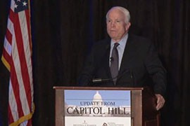 Sen. John McCain, R-Ariz., announced his intention to run for sixth term during an event in the Valley this week.