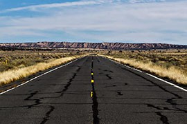 A road on the New Lands portion of the Navajo Nation, one of the areas where famliies have been relocated.