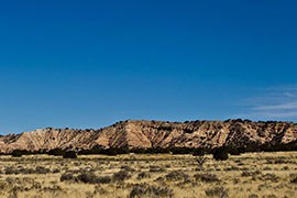 A panoramic view of the Navajo Nation's New Lands area, home to many relocated Navajo families.