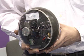 GuardBot brought to the Border Security Expo an video system carried by a ball that can operate on land and water.
