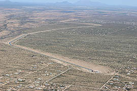 The Central Avra Valley Storage and Recovery Project recharges groundwater using Colorado River water delivered by the Central Arizona Project.