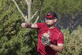 Venezuelan catcher Oscar Hernandez is in favor of speeding up the game internationally.