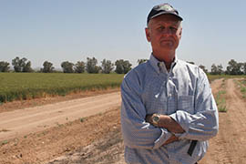 Dan Thelander, who grows alfalfa, wheat, cotton and other crops on 5,000 acres in Maricopa, is wary of a looming shortage on the Colorado River that would cut deliveries to central Arizona agriculture. But he says the state's farmers are used to doing more with less water because they're in a desert.