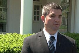 Arizona Teacher of the Year John-David Bowman at the White House for an event honoring teachers, said Arizona has
