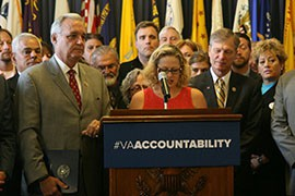Rep. Kyrsten Sinema, D-Phoenix, said revelations of doctored wait times and delays of months for veterans seeking care at the Phoenix VA were both
