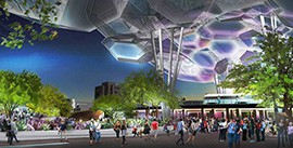 The signature clouds will mark the entrance to the renovated Hance Park project.
