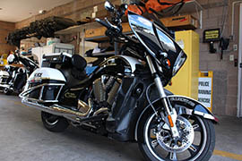 This motorcycle is part of a fleet for which the Oro Valley Police Department put $45,500 of federal asset forfeiture money toward a lease payment.
