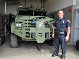 The Sierra Vista Police Department put nearly $40,000 of asset forfeiture money from a federal program toward this $277,000 LENCO BearCat Tactical Vehicle. Deputy Chief Adam Thrasher said the budget approved by the city wouldn't pay for an armored vehicle.