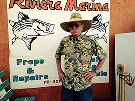 Rusty Braun, owner of Rusty's Riviera Marina in Bullhead City, is celebrating an agreement to reopen a federal hatchery that has supplied trout to the Colorado River and Lake Mohave. The area depends on anglers drawn to the trout fishery in cool water flowing out of Hoover Dam.