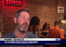 One of the owners of Tempe-based Four Peaks Brewery says the brewery plans to hire more people and expand its brand, a plan that includes releasing more specialty beer.