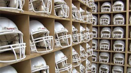 """ASU Head Athletic Trainer Dr. Rodger McCoy is working with the Barrow Neurological Institute to develop new equipment that will detect and monitor head injuries. """"No helmet, no head device ever can protect you from a concussion completely,"""" Dr. McCoy said."""