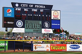 The innings-break clock was used at every ballpark during spring training.