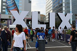 The NFL decorated Phoenix with all kinds of Super Bowl memorabilia, including the life-size XLIX in downtown Phoenix.