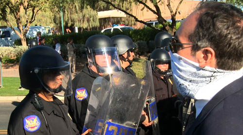 Today on Cronkite NewsWatch occupy Phoenix protesters were arrested and pepper sprayed after rallying against a lobbyist group. And we tell you what top leaders say needs to be done to improve the economy and education.