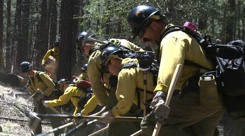 Being in a hotshot firefighting crew means working at the hottest – and most dangerous – points of wildfires, often in rugged terrain where little support is available. With wildfire season at hand, training is essential. Cronkite News reporter <b>Cory Galvan</b> reports.