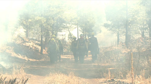 In summer 2011, the Wallow Fire's western advance was checked at the Fort Apache Indian Reservation, something experts and tribal officials credit to decades of forest management including logging and prescribed burns. Cronkite News reporter <b>John Brimley</b> shows how firefighters on the Fort Apache Indian Reservation protect the forest from cataclysmic wildfires.