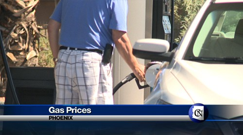 Today on Cronkite NewsWatch, we take a look at the skyrocketing gas prices in California and hear from the experts on the potential impact on Arizona's pumps. Plus, you'll meet a group of knitters who create something rather unexpected for cancer survivors. And one valley school district puts school lunches to a taste test in the name of good nutrition.