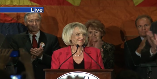 In this final hour of our Cronkite News Election Night Special, we take a closer look at which Arizona ballot propositions are still hanging in the balance, and we take you live to Republican Headquarters in downtown Phoenix where Governor Jan Brewer declares victory for herself and her party in a sweeping win for the GOP here in Arizona and across the United States.